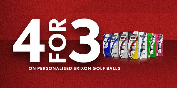 4 FOR 3 Dozen On Personalised Srixon Balls!